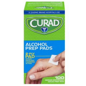 $10.5(6 pack) Curad Alcohol Prep Pads, 100 ct.