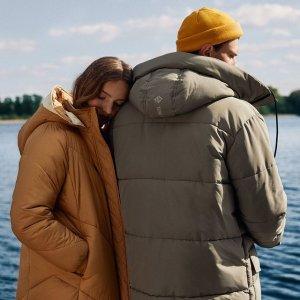 低至5折+额外7折冬日保暖外套 收羽绒服、派克棉服、大衣 大风大雪也不怕啦