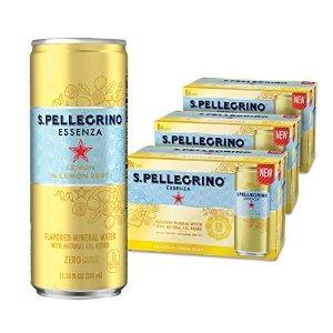 $16.11闪购:意大利圣培露果味气泡水 酸柠檬风味 24罐