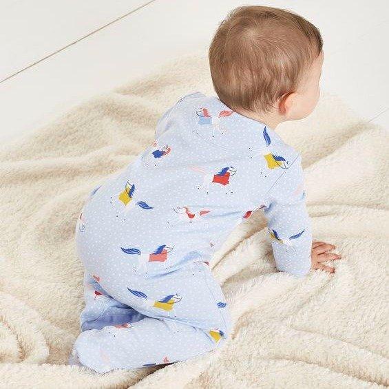 婴儿包脚连体衣