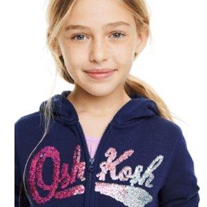 $8起+全场包邮 0-14岁码都有OshKosh BGosh 儿童实用卫衣卫裤优惠 四季百搭