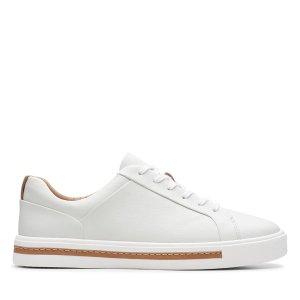 ClarksUn Maui 女款小白鞋