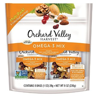 $5.98ORCHARD VALLEY HARVEST Omega-3 Mix, Non-GMO, No Artificial Ingredients, 1 oz (Pack of 8) @ Amazon