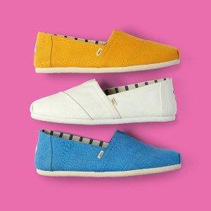 低至7折 £28 收水果一脚蹬TOM'S 渔夫鞋热卖 周迅同款