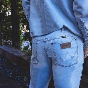 $22.6起 明星朋友都爱Wrangler  男士牛仔裤 优质弹性面料 穿着体验一流