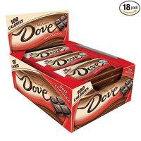 Dove 100卡路里 黑丝滑巧克力 0.65oz 18条