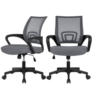 $80Easyfashion 2 x Mesh Office Chair Support Desk Chair with Armrest