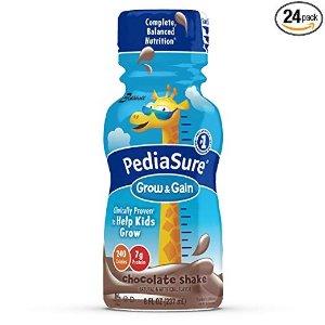 PediaSureGrow & Gain 巧克力口营养奶 8oz,24瓶