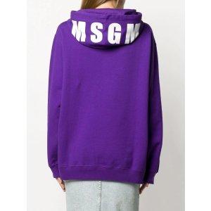 MSGM宽松logo帽衫