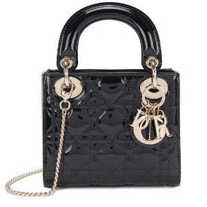 Dior黑色迷你戴妃包