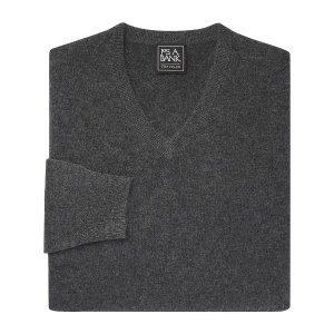 v领羊绒衫