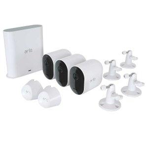 $349.99 带壁挂Arlo Pro 3 2K HDR 家庭安防系统 3摄+Hub套装