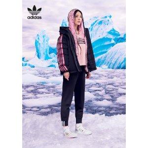 Adidas杨幂海报款运动裤R.Y.V. 黑色运动裤