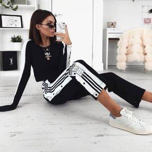 $40(原价$80)+包邮  号码全adidas Originals Adibreak运动长裤 双色可选
