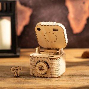 $16.79起ROKR 3D 木质拼搭玩具宝盒、手摇放映机、万年历、机械摆钟