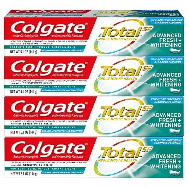 美白护理牙膏 5oz x 4只