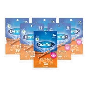 DenTek Easy Brush Interdental Cleaners, Mint 16 count( Pack of 6 ) by DenTek