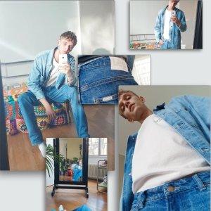 $18收T恤+包邮上新:Lee x H&M 联名合作款牛仔服饰  $27收叠搭牛仔背心