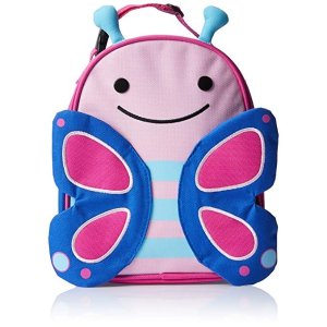 Skip HopZoo Kids Insulated Lunch Box, Blossom Butterfly, Pink