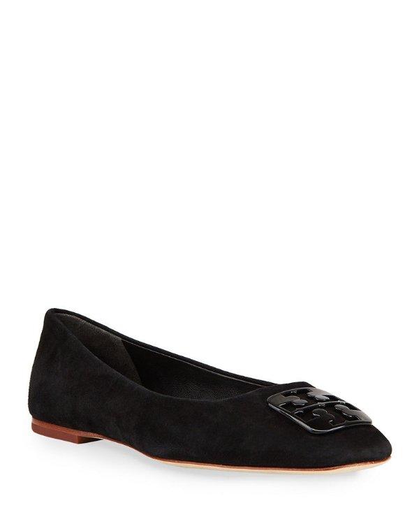 麂皮平底鞋