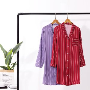 $19.99(原价$39.99)Femofit 衬衫睡裙 高级丝缎质感 宅家划算投资