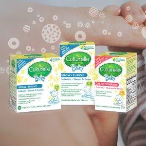 低至8折+包邮史低价:Culturelle 婴幼儿、儿童益生菌特卖,促进肠道健康