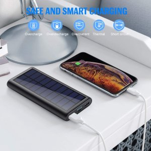折后 €19.99 小体积大容量闪购:Pxwaxpy 太阳能充电宝热促 夏日外出露营必备