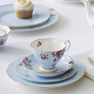 $16.99史低价:Royal Albert 波尔卡玫瑰骨瓷茶杯2件套
