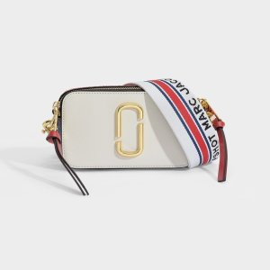 Marc Jacobs Snapshot Bag in White Leather