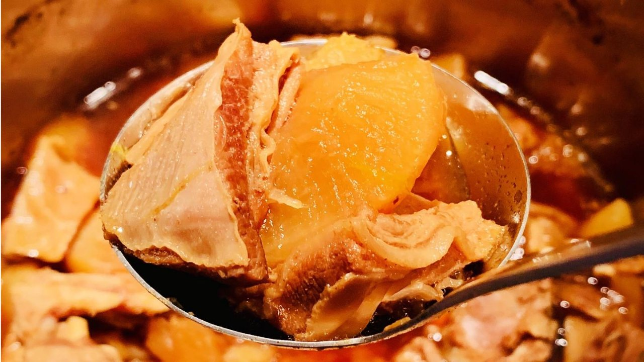 Instant Pot美食攻略 | 秋日暖胃萝卜羊腩煲😍(详细步骤图,厨房小白轻松上手)