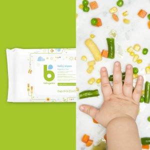 $14.73(原$19.99) 400抽Babyganics 无香型宝宝湿巾400抽 天然植物来源 全身可用