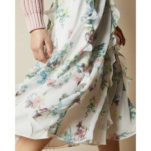 Ted BakerLURISSA Pergola printed midi skirt