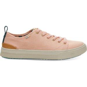 TomsCoral Pink Canvas TRVL LITE Low Women's Sneakers