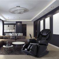 Synca Wellness 顶级4D日可加热按摩椅 黑色 JP1100