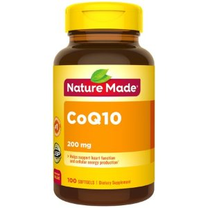 Nature Made CoQ10 200 mg Softgels, 100 Count for Heart Function and Cellular Energy.? - Walmart.com