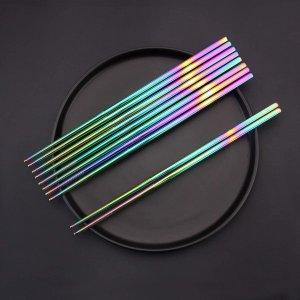 SHARECOOK Chopsticks set, 18/10 Stainless Steel