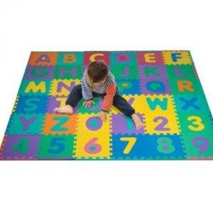 $19Trademark 96-Piece Foam Floor Alphabet and Number Puzzle Mat For Kids