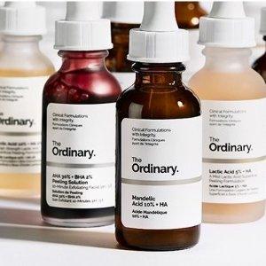 退税9% + 任意1瓶包邮全网最低价: The Ordinary 成分控最爱的护肤精华促销
