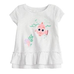 94408ce868123 Disney s Finding Nemo Baby Girl Ruffle Hem Tee by Jumping Beans®