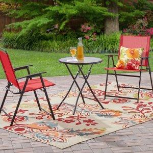 $49.99Mainstays 可折叠式庭院桌椅3件套 多色可选