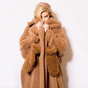 8.5折!£1249收经典浴袍大衣Max Mara 罕见好价 收经典浴袍大衣、泰迪熊大衣