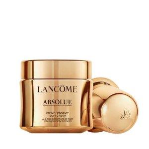 Lancome送30ml+5件套箐纯面霜(soft cream版本替换装)