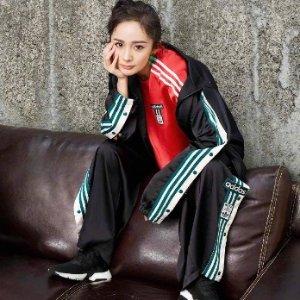 低至5折 最新adibreak款式全adidas 三叶草系列卫衣、外套等大促 £31收豆沙粉卫衣