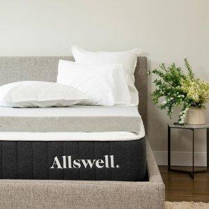床垫8.5折 床品7折 加厚垫全新上市Allswell 全场高品质床垫和设计师床品Memorial Day热卖