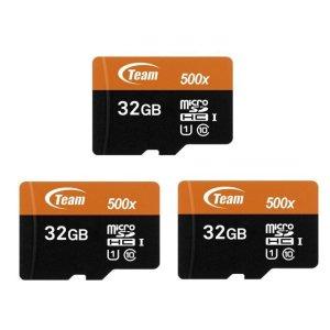 $9.99Team 32GB microSDHC UHS-I/U1 Class 10 Memory Card X 3
