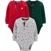 Carter's 婴儿亨利领包臀衫3件套