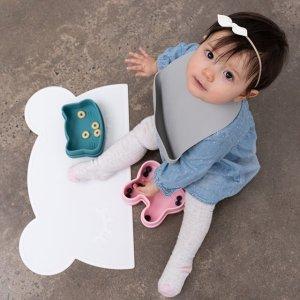 低至4.9折 $17.5收硅胶围兜2件We Might Be Tiny 可爱宝宝餐具热卖 自主进食吸盘碗