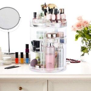 $28.39(原价$30.56)360度可旋转式化妆品收纳 高度可随心调节 超大容量 省空间