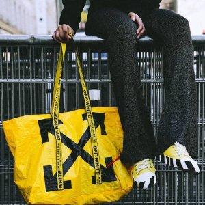 无门槛8.5折 封面托特包€170收独家:Off White 包包潮衣潮鞋热卖中 好价收潮牌界扛把子