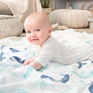 最高享7.5折+包邮 最佳凑单单品Aden and Anais 婴儿包巾、纱布毯、服饰等特卖 乔治小王纸御用
